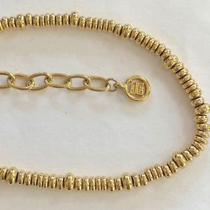 GIVENCHY Vintage Necklace Gorgeous Gold Bead Link